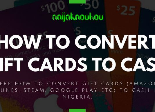 HOW TO CONVERT GIFT CARDS TO CASH