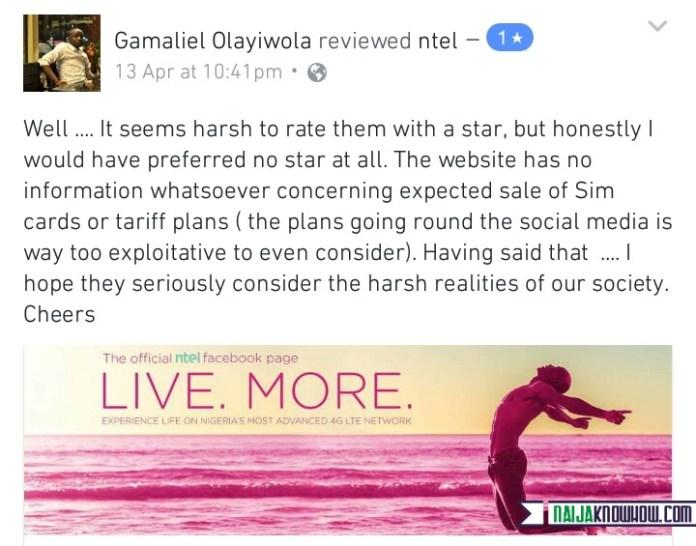 NTEL 4G Network customer review