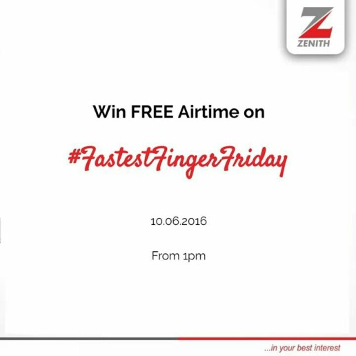 Zenith bank airtime giveaway