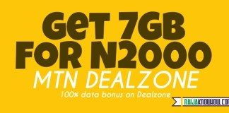 7gb for n2000 on MTN Dealzone