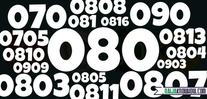 Mobile Number Prefixes