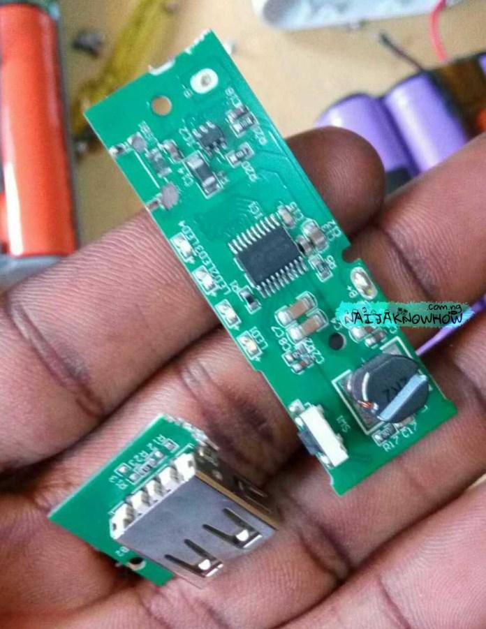Powerbank Conversion | Damaged PB 2 circuit board.