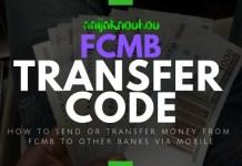 FCMB TRANSFER CODE