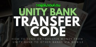 UNITY BANK TRANSFER CODE