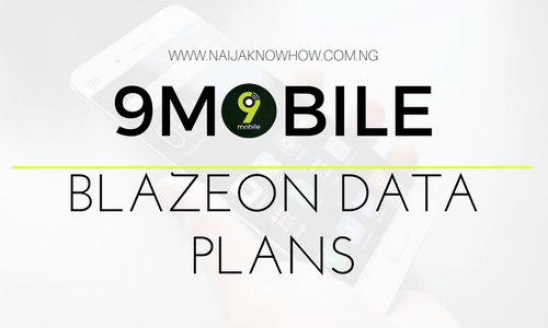 9MOBILE BLAZEON DATA PLANS