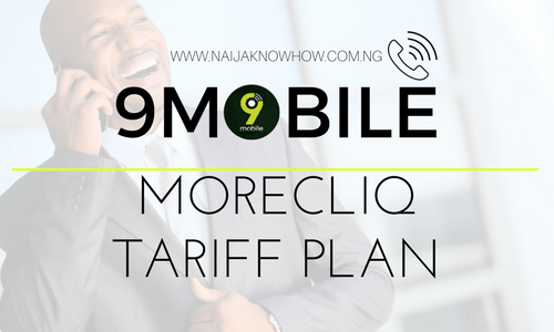 9MOBILE MORECLIQ TARIFF PLAN