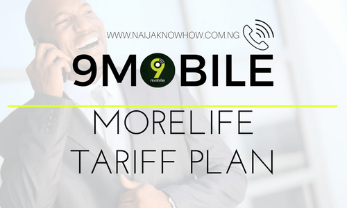 9MOBILE MORELIFE TARIFF PLAN