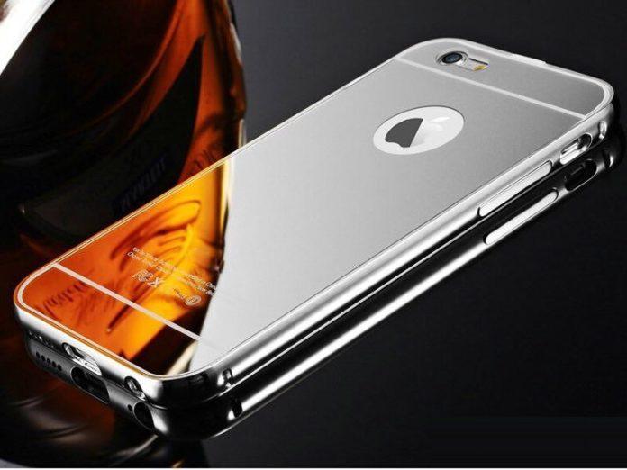 iphone 8 reflective mirror case