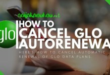 how to cancel glo data autorenewal