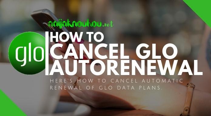 how to cancel glo data autorenewal