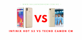 INFINIX HOT S3 VS TECNO CAMON CM