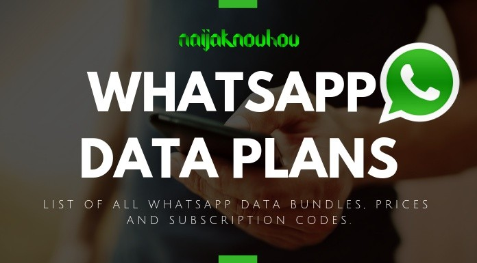LIST OF ALL WHATSAPP DATA PLANS