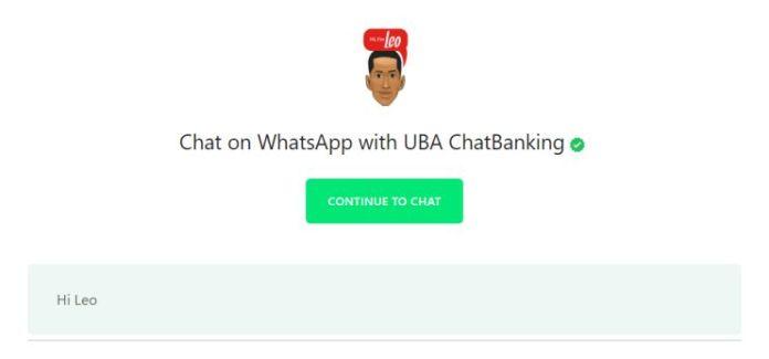 UBA Leo WhatsApp