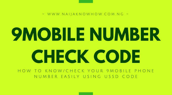 How To Check 9mobile Number (Know Etisalat Phone Number With
