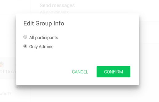 whatsapp group message feature