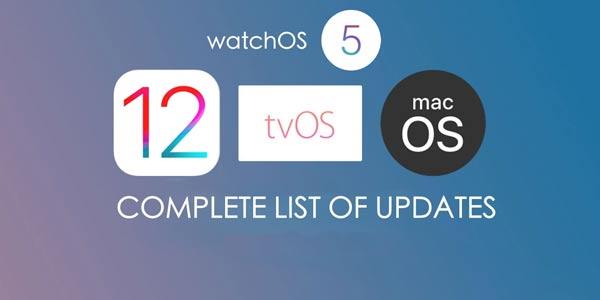 Apple Official Release iOS 12, watchOS 5, tvOS 12