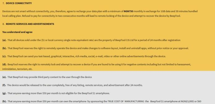 beeptool oyi-1 terms and conditions
