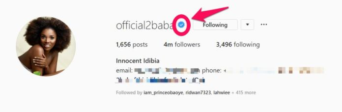 Instagram Blue Tick - Official2Baba
