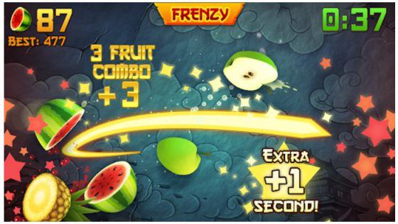 fruit ninja - best offline games for kids