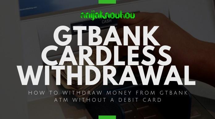 GTBank cardless withdrawal