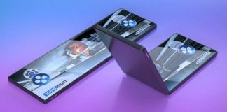 sharp folding screen smartphone prototype