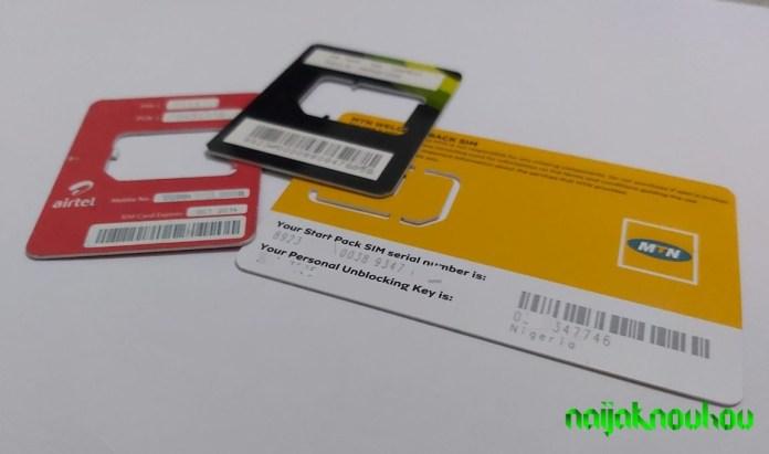 Get PUK Code: 9mobile airtel mtn sim pack