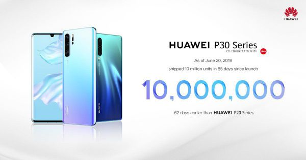 Huawei Claims P30 Line Has Sold 10 Million Units