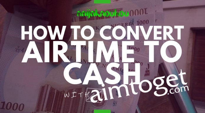How to convert airtime to cash in Nigeria with Aimtoget.com