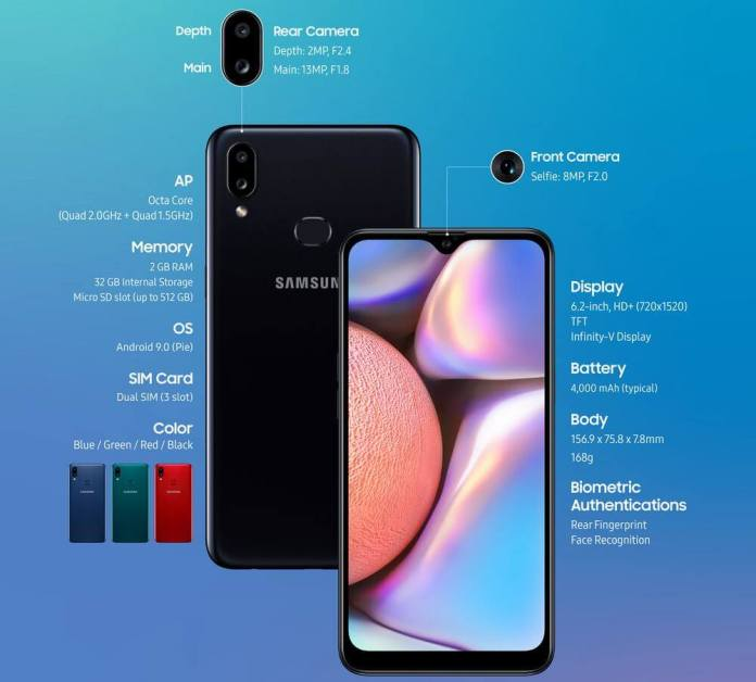 Samsung Galaxy A10s Specification