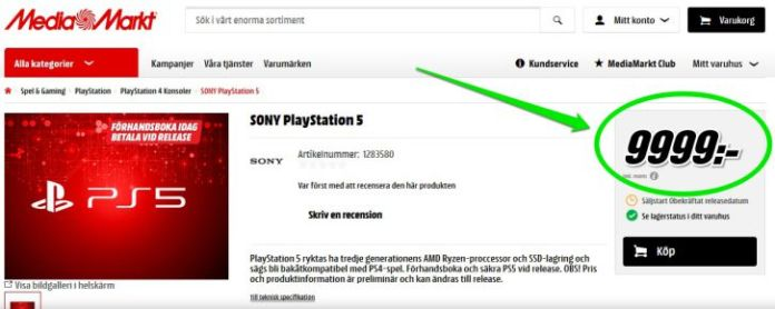 ps5 price leaked
