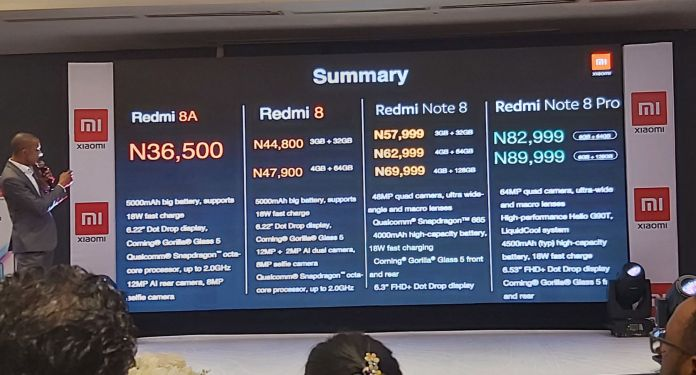 redmi note 8 series prices