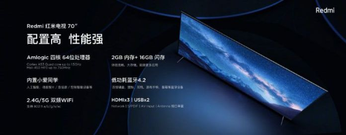 redmi tv with 4k display