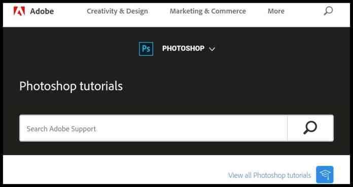 Photoshop Tutorials - website to learn adobe photoshop