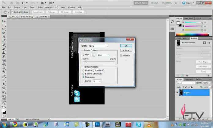 Reduce image sizes with Photoshop