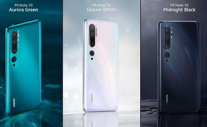 Xiaomi Mi Note10 Colour Variants
