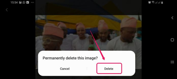 restore delete photos on android