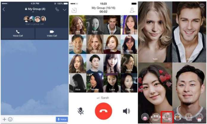 Group Video Call Feature on LINE