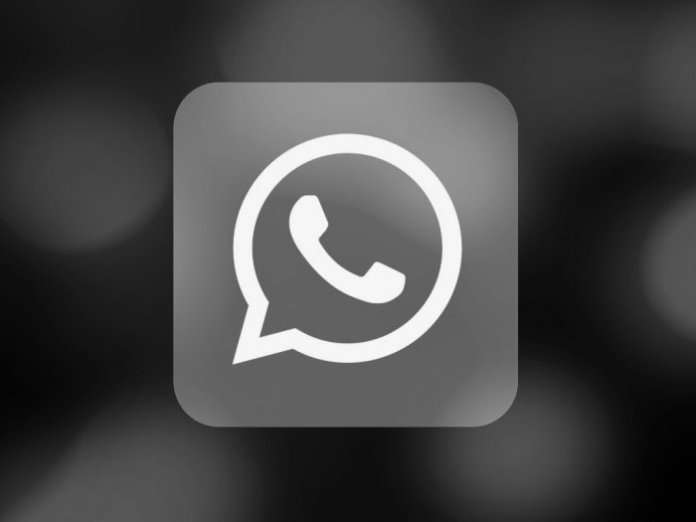 black WhatsApp logo