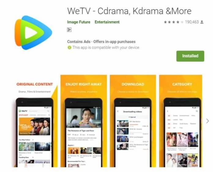 wetv - app to watch korean drama