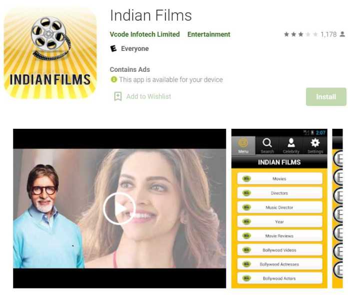 Indian Films - app to watch Indian movies