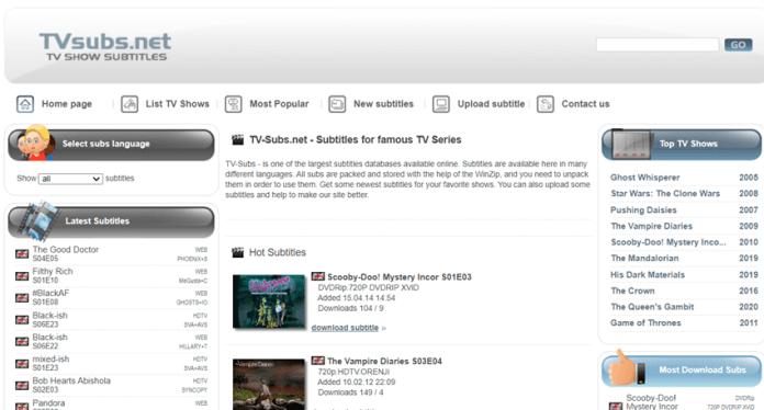websites to download subtitles