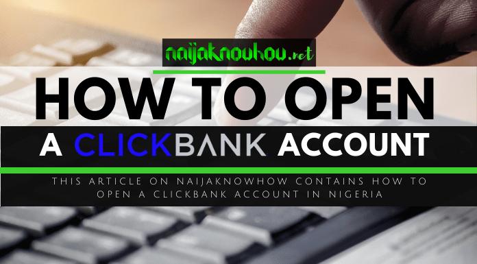 open clickbank account