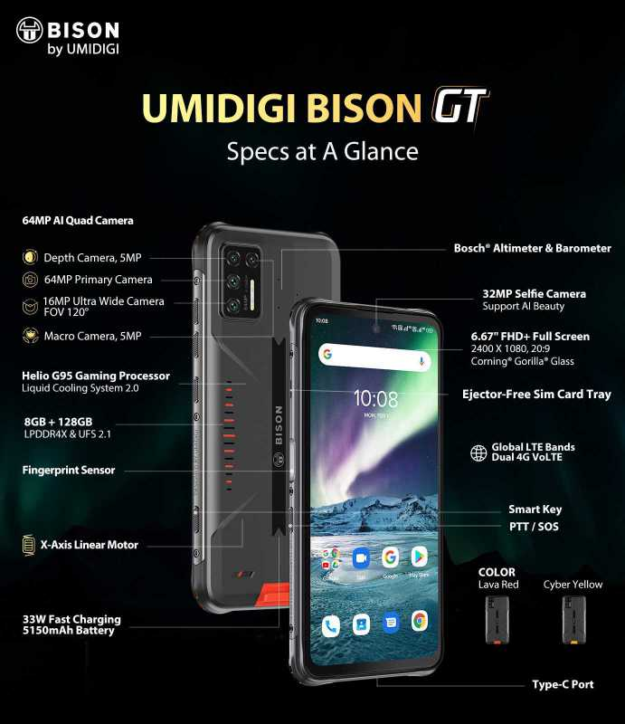 UMIDIGI BISON GT SPECS