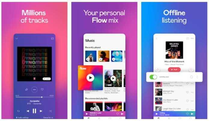 Deezer Music Player - best mp3 music downloader apps