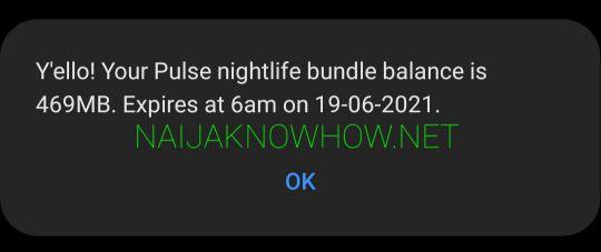 how to check mtn night plan balance