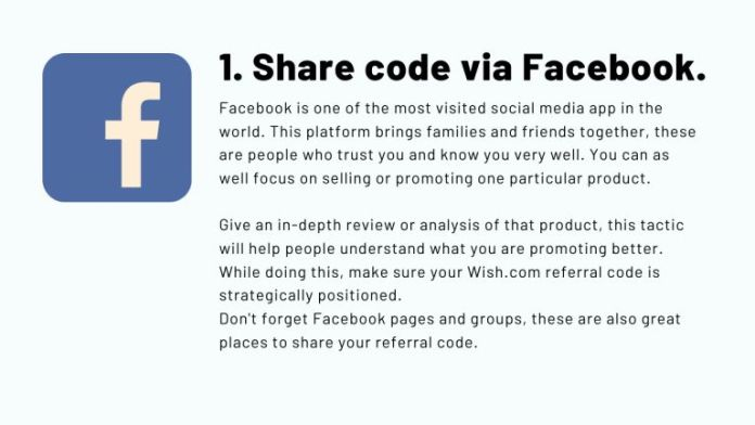 how to promote wish.com referral code