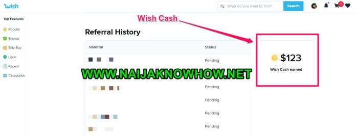 wish cash
