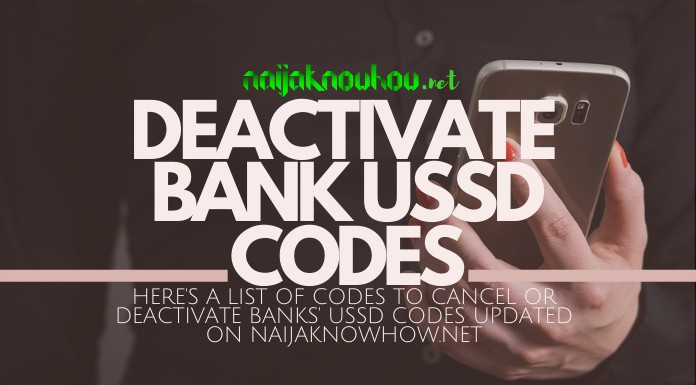 how to deactivate bank ussd code