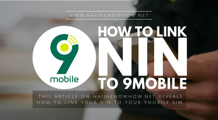how to link nin to 9mobile sim