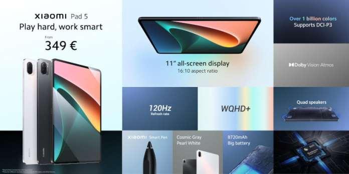 Xiaomi Pad 5 Specs